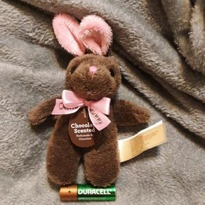 Small chocolate scented bunny plush